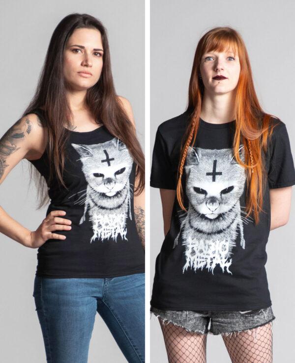 "<span class=""collec"">Satanimals </span><span class=""modele"">Chat </span>Débardeur femme + t-shirt unisexe"