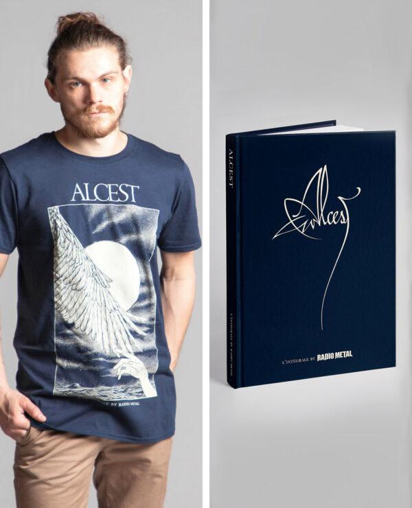 """<span class=""""collec"""">Radio metal ÉDITIONS </span><span class=""""modele"""">Livre officiel / Handwing </span>L'Intégrale Alcest (FR) + T-shirt"""