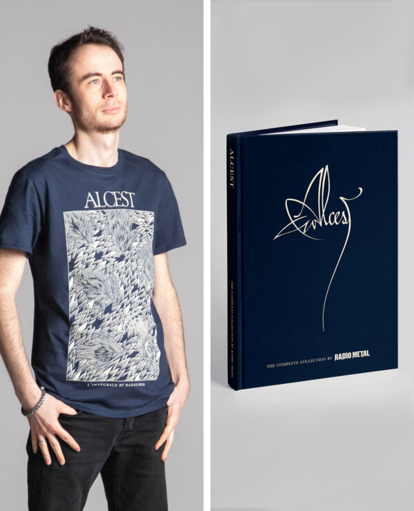 """<span class=""""collec""""> Radio metal ÉDITIONS</span><span class=""""modele""""> Official book / Peacock</span>Alcest: The Complete Collection (ENG) + T-shirt"""