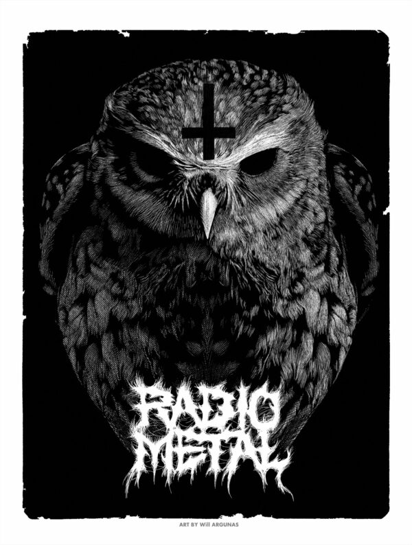 Poster d'une chouette metal