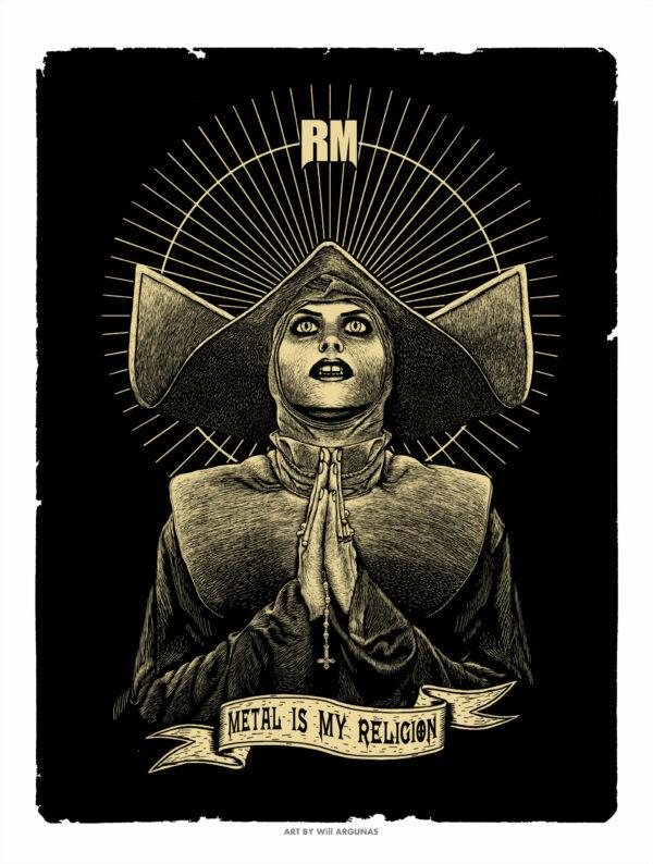 poster d'une nonne metal