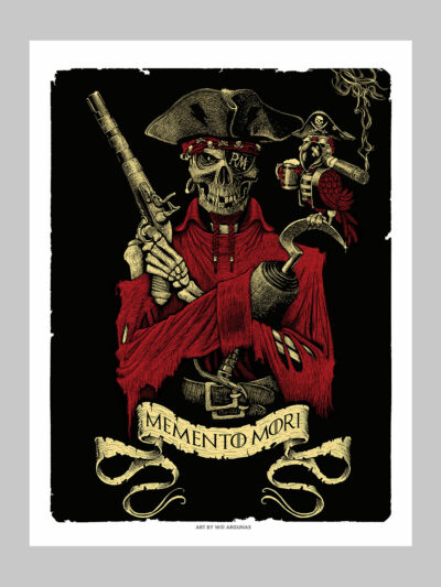 Poster d'un pirate metal
