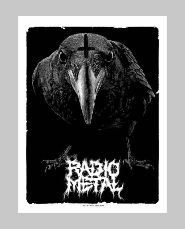 Poster d'un corbeau metal